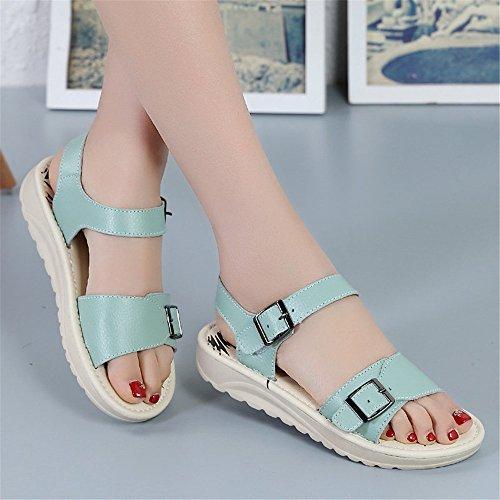 Tmkoo Fond Bleu À Chaussures De Color 39 Taille Base Sandales Élégantes Plat qwrtHwa