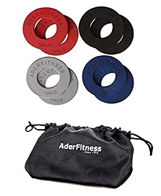 Ader Fitness Olympic Fractional Plates - 5 LB Set with FREE Mountain Bag by Ader Sporting Goods