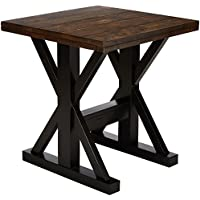 Simmons Upholstery & Casegoods 7525-47 End Table-Black & Oak