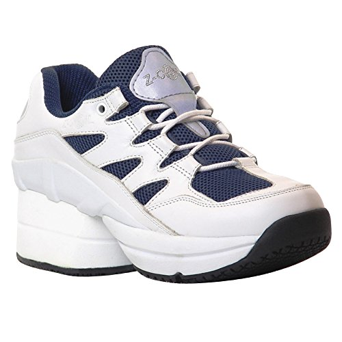 Z-CoiL-Pain-Relief-Footwear-Mens-Freedom-Slip-Resistant-Enclosed-CoiL-White-Navy-Leather-Tennis-Shoe