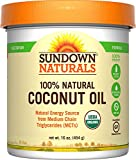 Sundown Naturals Organic Coconut Oil, 16 Ounces