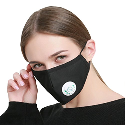 Marygel Reusable PM2.5 Activated Carbon Filter Dust Masks with Exhalation Valve 5 (Line Activated Carbon Filter)