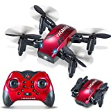 Foldable RC Mini Drone with Altitude Hold,One-Button Take off/Landing,2.4GHz 6-Axis Gyro Pocket Quadcopter with One-Button 360° Flip and 10 MINUTES Flight Time