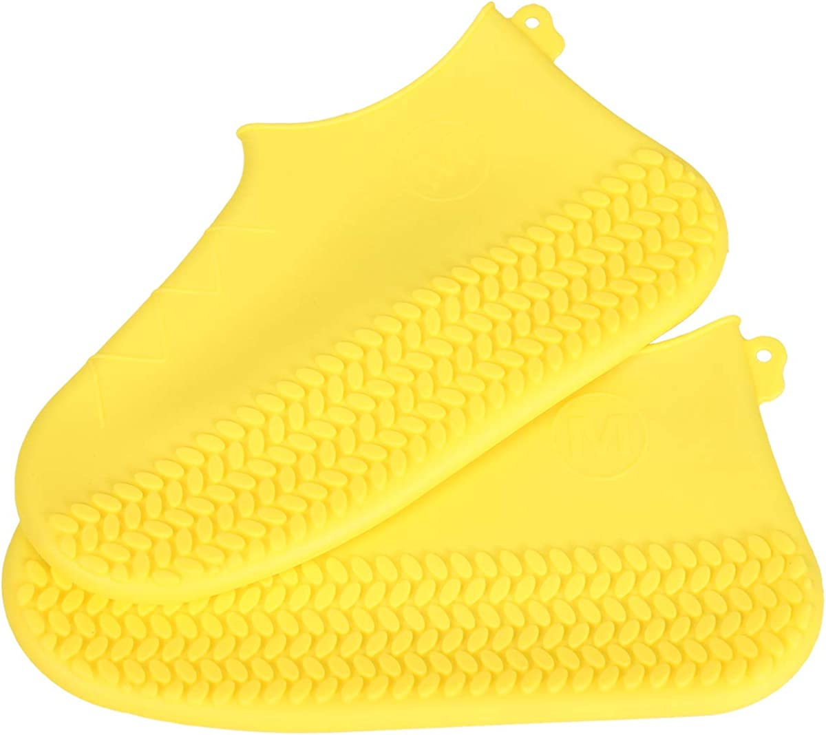 BENPIN Silicone Shoe Covers 1 Pair Outdoor Camping Cycling Waterproof Reusable Foldable Convenient Rain Boots Non Slip Design for Kids Women Men for Rain