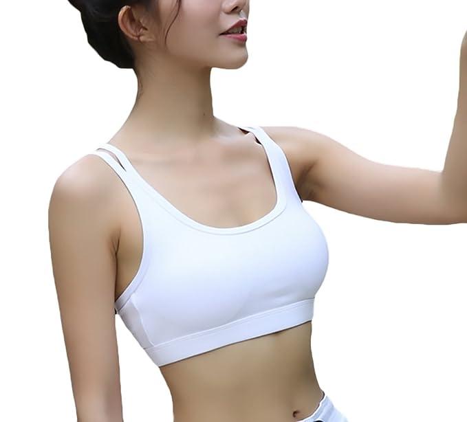 Lannister Fashion Mujer Sujetador Deportivo Push Up Fitness Sin Costuras Almohadillas Bra para Yoga Gimnasio Running