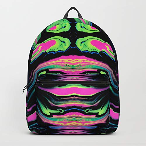 Society6 Backpack, Paint Spill (Pattern 2) by syphelan, Standard Size