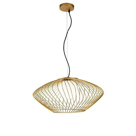 Moderna lámpara de techo dorada, cable negro ajustable en ...