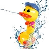 MINGKIDS Bath Toy ,Toys for 1-5 years old boys girls,Water Guns,Soaker Squirt Games for Kids Adults,Beach Swimming Toys for Game and family activity (duck)