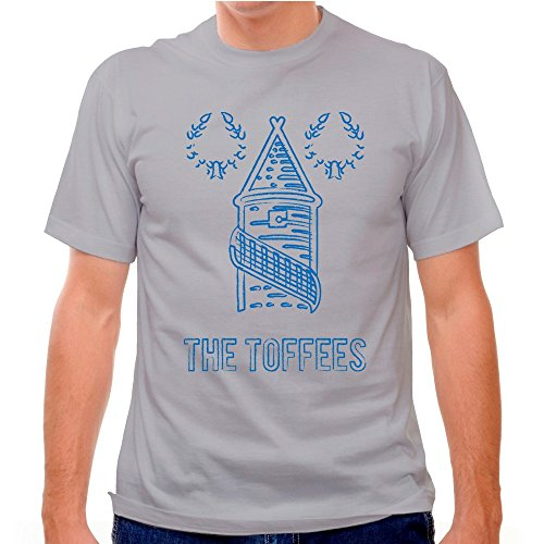 Soccer T-shirt, Cool Grey, Large (Everton Football Shirt)