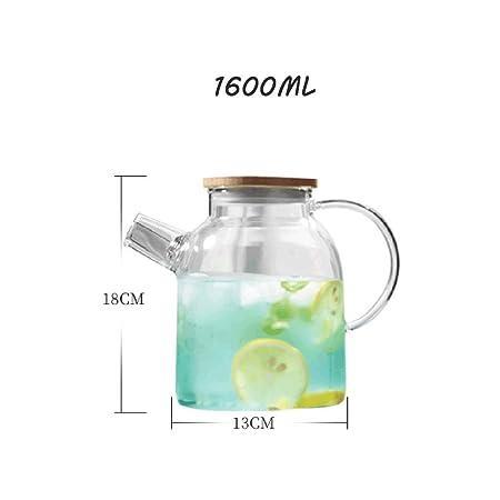 ... sin óxido, Botella de Agua, Alta Capacidad, enfriamiento y enfriamiento sin Romper a Prueba de explosiones, 1.6L (Material : Bamboo): Amazon.es: Hogar