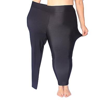583826d412eba LVYI Plus Size Yoga Leggings High Waisted Running Leggings Shiny Strechy  Slim Workout Leggings: Amazon.co.uk: Clothing