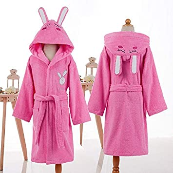 FERFERFERWON Camisa de Dormir Albornoz Infantil de algodón Material de Toalla para Hombres y Mujeres con