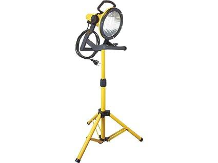 Energiespar-Strahler 32W mit Stativ gelb 5m Kabel 160W