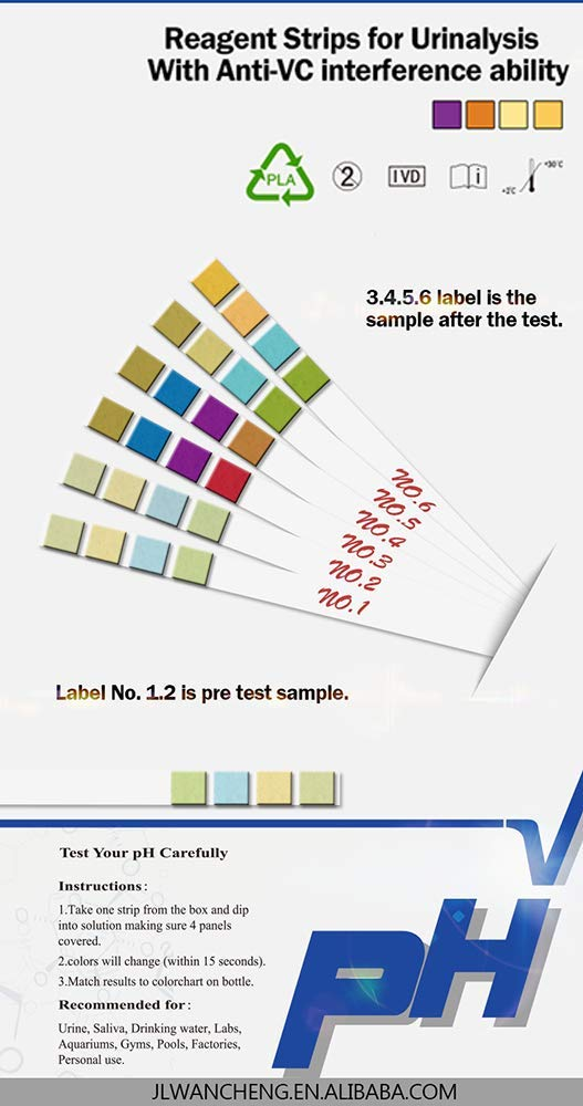 Hydroponics Test Water Quality Saliva Soil 100 ct Alkaline Diet Wancheng Universal Strips to Science and Quality Controls Aquarium Swimming Pools VANSFUL pH Test Strips 0-14