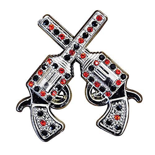 Set of 4 Crystal Rhinestone Bling Conchos Cross Pistol Saddle Headstall Cowgirl