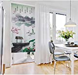 Chinese Traditional Ink Landscape Plum Trees Washpainting Door Curtain Noren Bedroom Doorway Curtain (# 3)