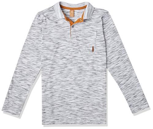 Camisa polo Polo Manga Longa Getblack, Up Baby, Meninos, Branco, 8