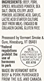 Vermont Smoke & Cure Meat Sticks - Antibiotic