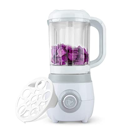Hip Tec Baby Food Blender Healthy Steam Baby Meal Blender Easy To Use Defrosting Functions White