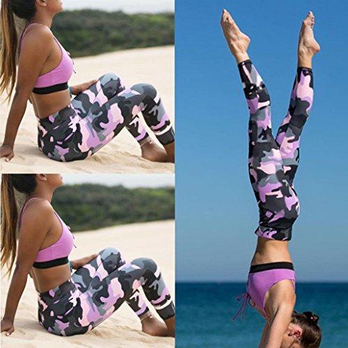 Bokeley Women Yoga Pants, Clearance!Women Camouflage Sports Yoga Workout Gym Fitness Exercise Athletic Leggings Pants