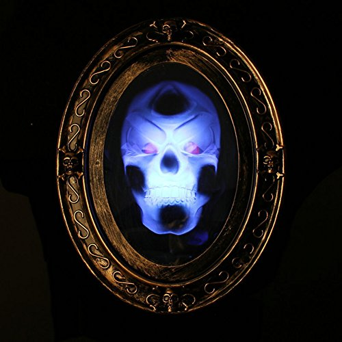 AISENO Haunted Mirror with Motion Activated Creepy Sound Halloween Prop Decoration ()