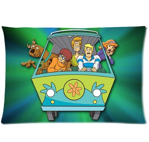 Doo Scooby Sheets - Custom Scooby Doo Two Sides Printed for 20x30 Inch Pillowcases Fashion Pillow Cover