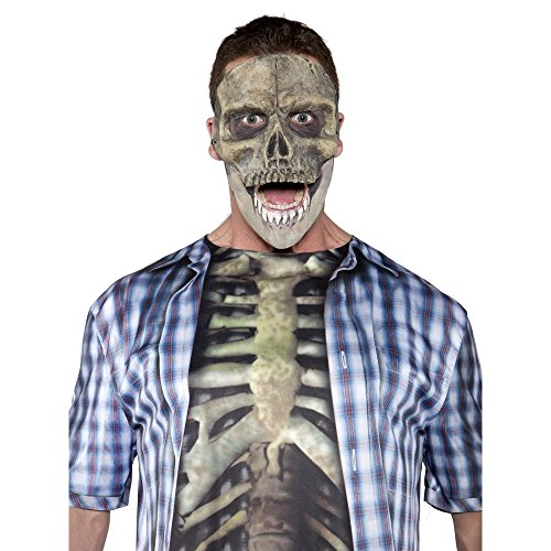 Scary Hallowen Costumes (Underwraps Men's Skull Mask, Grey, One Size)