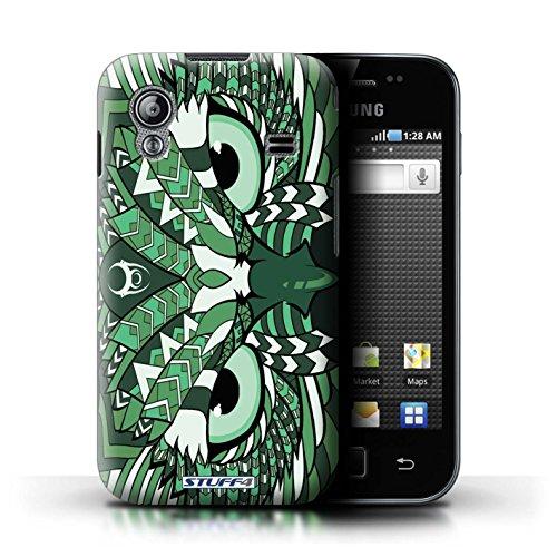 Stuff4 Hülle / Hülle für Samsung Galaxy Ace / Eule-Grün Muster / Aztec Tier Muster Kollektion