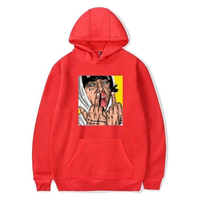 Mchooded Sudadera Clásica Unisex Lil Xan Xanarchy Sudadera con Capucha Rap Escudo Elegante para Hombre Y Niño Camiseta Estampada: Amazon.es: Ropa y ...