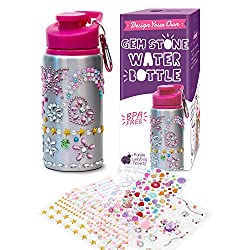 Water Bottle In Purple Colour With Rhinestone Gem Stickers