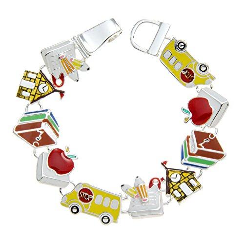 Teacher Bus (Teachers Gift Bracelet School Teacher Jewelry Gifts From Students by PammyJ)