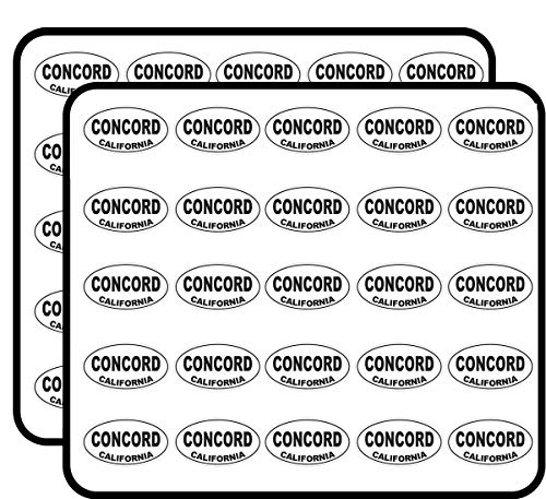 Concord California Oval Sticker for Scrapbooking, Calendars, Arts, Kids DIY Crafts, Album, Bullet Journals (Oval Concord)