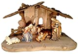 8 Piece PEMA Nativity Set 5 in. Scale, Italian Hand Carved Wood