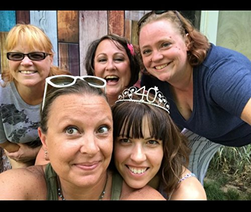 BABEYOND Crystal Tiara Birthday Crown Princess Crown Hair Accessories Silver Diamante Happy 40th Birthday (40 Birth) by BABEYOND (Image #6)