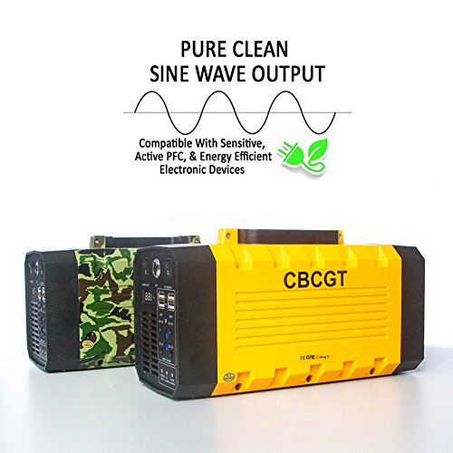 CBCGT Pure Sine Wave Portable Uninterruptible power supply 500W UPS Camo (Peak 1000W) UPS Power Backup with Built-in 26AH Lithium battery with Car Jump Starter USB DC AC devices for Indoor Outdoor Use by CBCGT (Image #7)