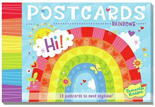 Peaceable Kingdom Rainbows 12 Postcard Booklet