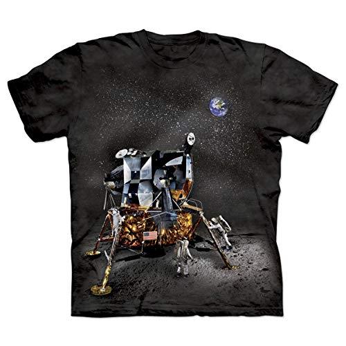 ComputerGear NASA Apollo 11 Anniversary to The Moon Lunar Module T-Shirt Large Black