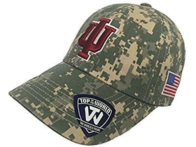 Top of the World Indiana Hoosiers TOW Digital Camouflage Flagship Adjustable Slouch Hat Cap by Top of the World