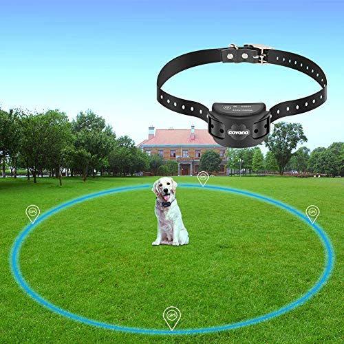 - COVONO Wireless Electric Dog Fence with GPS,Dog Containment System(Waterproof and Rechargeable Collar,Shock/Tone Correction,for 1 Pet)