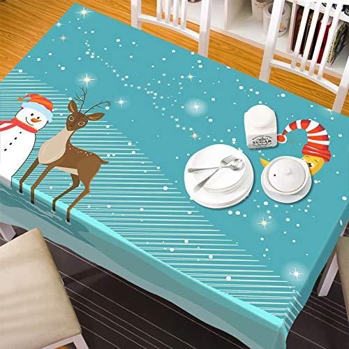 3D Christmas Xmas Snow Drifting Deer 66 Tablecloth Table Cover Cloth Birthday Party Wallpaper Mural US   3D Large Photo Tablecloth, AJ WALLPAPER US Zoe (【70''x 107''】178x274cm(WxL)) (Drifting Snow)