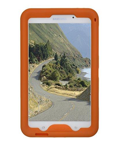 Bobj Rugged Case for Samsung Galaxy Tab 4 7-inch Tablet, Models SM-T230, SM-T231, SM-T235, Other SM-T23, Tab 4 Nook 7 - BobjGear Custom Fit - Sound Amplification - Kid Friendly (Outrageous Orange) (Galaxy Tab 7 3g)