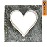 GAURI KOHLI: Heart Shaped Sculpture Made of Udaipur Green Marble | Both For Indoor & Outdoor (Size Medium)