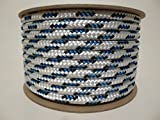 5/16'' x 100 ft. Valsail Double Braid Yacht Braid Polyester Sailboat Rigging Nautical Rope Spool. Valley Rope.