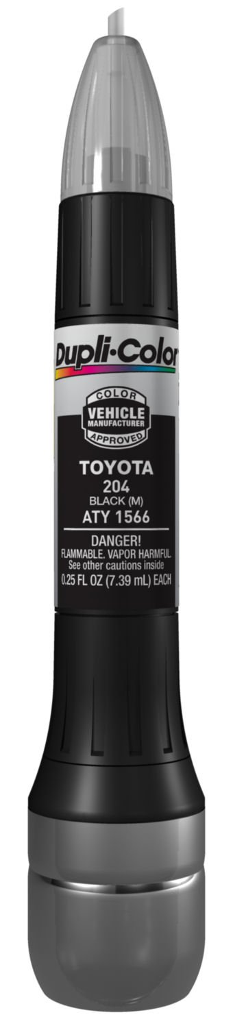 Dupli-Color ATY1566 Metallic Black Toyota Exact-Match Scratch Fix All-in-1 Touch-Up Paint - 0.5 oz.