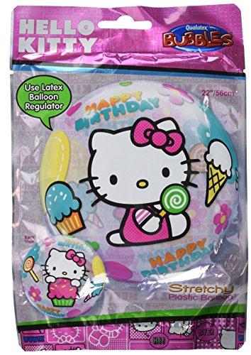 Qualatex Balloon 012865 Bubble-Hello Kitty Birthday, 22