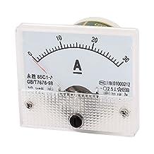 85C1-A DC 0-30A Analog Ammeter Panel Current Meter Gauge