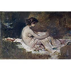 'Pinazo Camarlench Ignacio Desnudo De Mujer 1902 ' Oil Painting, 12 X 18 Inch / 30 X 45 Cm ,printed On High Quality Polyster Canvas ,this Reproductions Art Decorative Prints On Canvas Is Perfectly Suitalbe For Home Office Decoration And Home Decoration