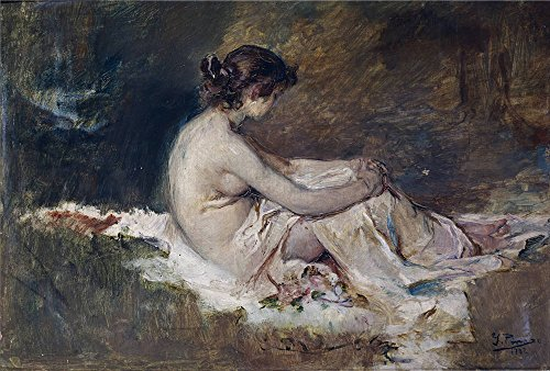 Oil Painting 'Pinazo Camarlench Ignacio Desnudo De Mujer 1902', 16 x 24 inch / 41 x 60 cm , on High Definition HD canvas prints is for Gifts And Dining (Halloween Talking Flashcards)