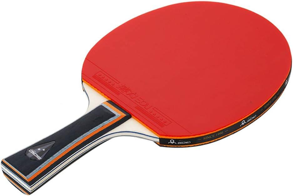 YILONG Mesa de Ping Pong 2 Jugador Conjunto Dos Pong Paddle, Deportes de Raqueta Dos Bolas Home School Sports Club de Doble Cara de Goma Principiante Paleta de Ping Pong