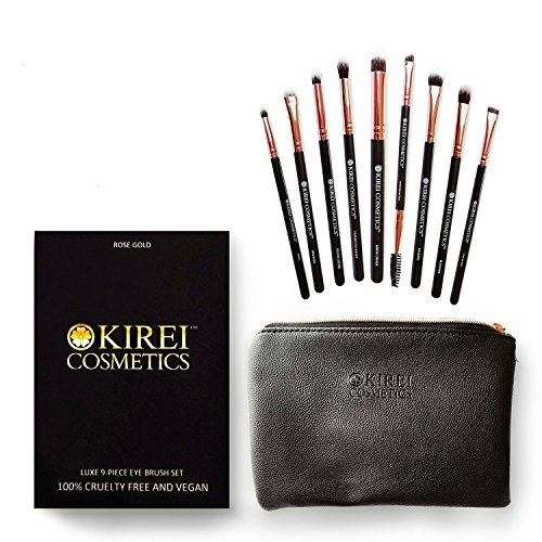 Kirei Cosmetics Luxe 9-Piece Cruelty-Free and Vegan Eye Makeup Brush Set